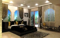 Black & Gold Bedroom