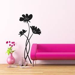 Pleasing Poppies Wall Decal ( KC086 )