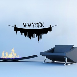 New York on the Line Wall Decal ( KC240 )