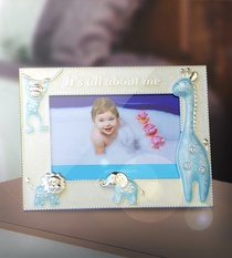 Photo Frame Animals Blue