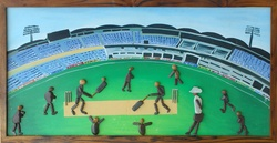 Cricket Stadium with players