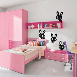 Funny Bunnies Wall Decal ( KC033 )