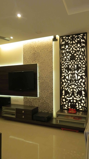 2bhk flat by priyanka jadhav interior designer in navi Flats interior design pictures india
