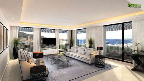 The contemporary Living Room 3D Interior Designers