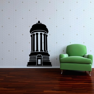 Cylindrical Architecture Wall Decal ( KC238 )