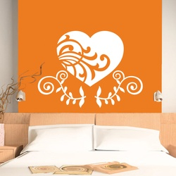 Carved Heart Wall Decal ( KC178 )