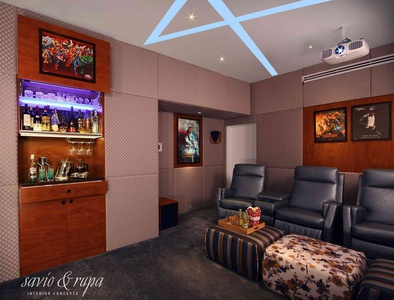 Home Theater. Savio Michael Interior Designer Part 59