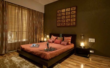 Earthy Brown Master Bedroom Design