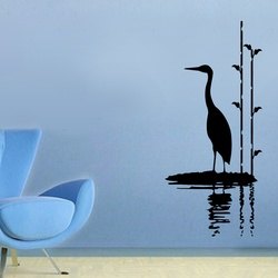 Stork By Water Wall Decal ( KC083 )