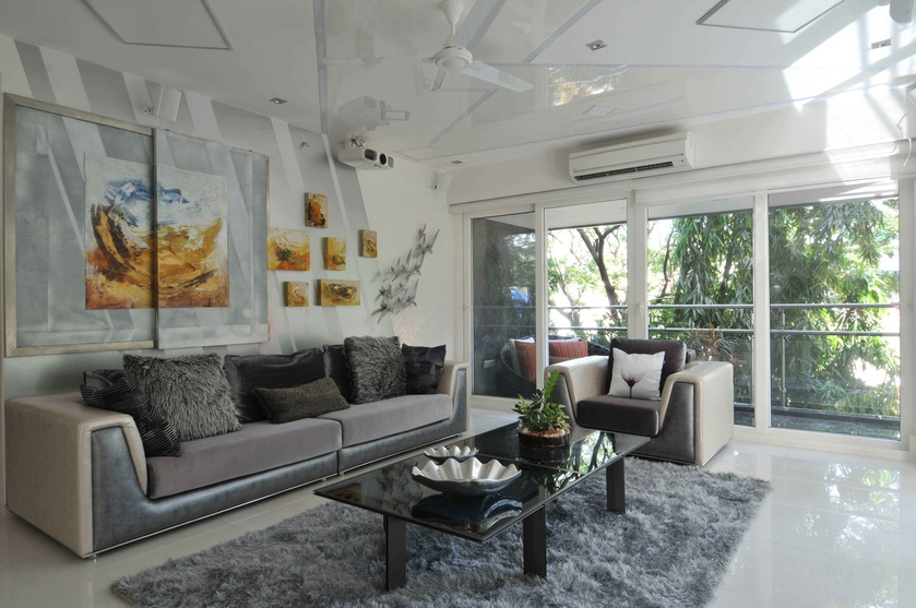 Modern Living Room with Wall Art