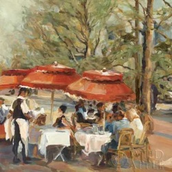 Lunch on the Champs Elysees Poster