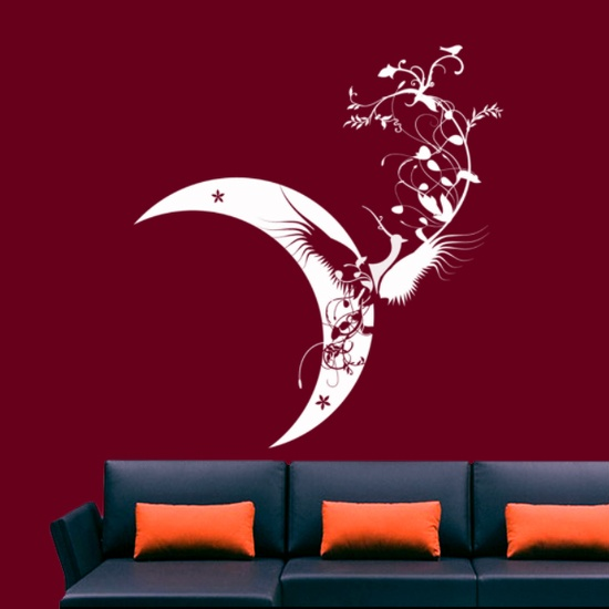 Moon Bird Wall Decal ( KC049 )