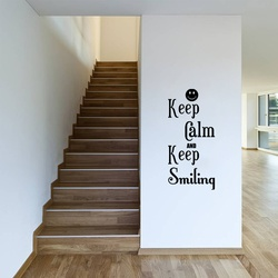 Keep Calm and Keep Smiling Wall Decal ( KC361 )