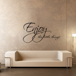 Enjoy the Little Things Wall Decal ( KC386 )