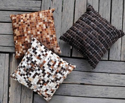 Mosaic Luxury Leather Cushions