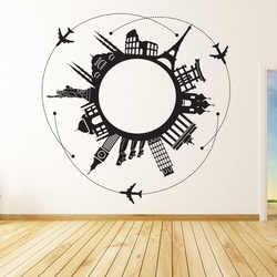 Around the World Wall Decal ( KC037 )