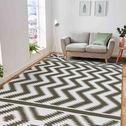 Flat Woven Zara Modern Area Rug 5'x8' (Jade) For Living/Dining/Bedroom