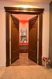 Solid wood master door