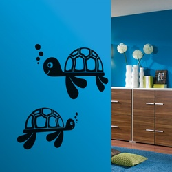 Cute Turtles Wall Decal ( KC151 )