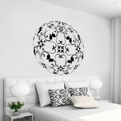 Curvy Circle Wall Decal ( KC105 )