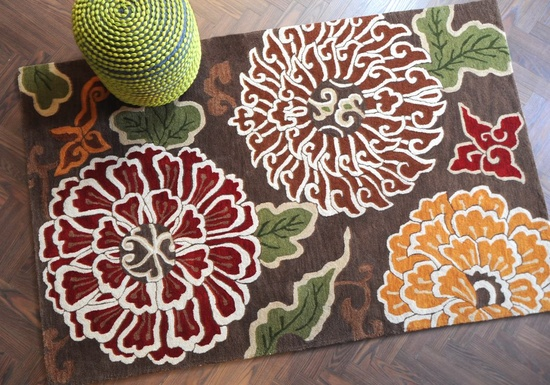 Shangai Hand-tufted Floral Wool Rugs