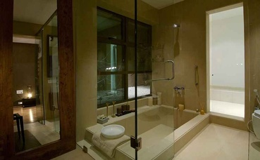 Master Bath with Sunk in Bathtub