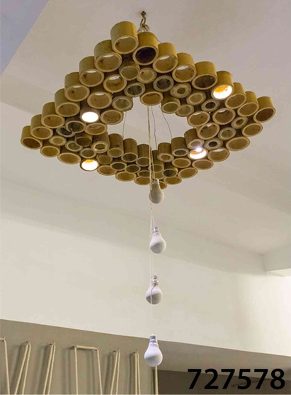 bamboo made chandelier
