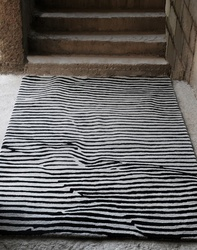 Crumple Striped Wool Rugs