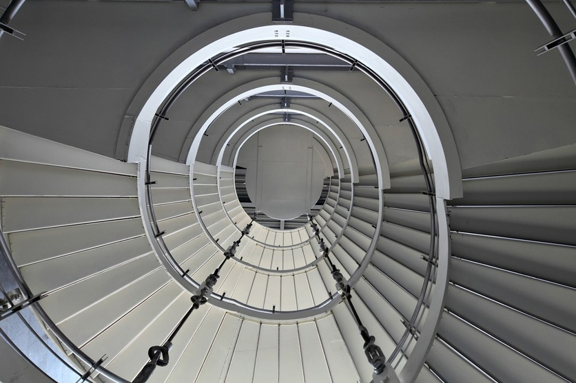 Cable Hung Spiral Staircase