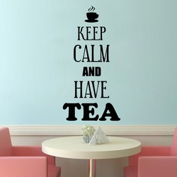 Keep Calm and Have Tea Wall Decal ( KC367 )