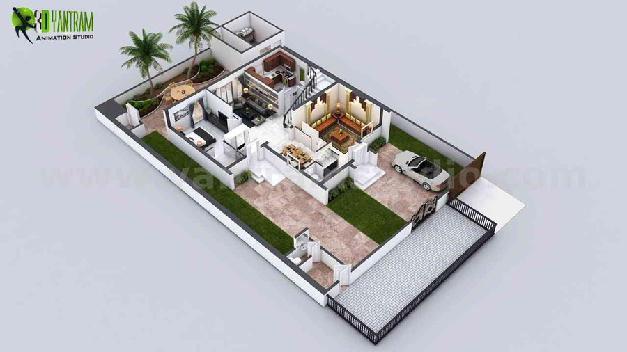 Ground Floor plan services