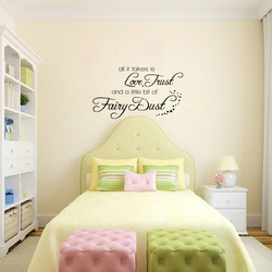 Love Trust and Fairy Dust Wall Decal ( KC387 )