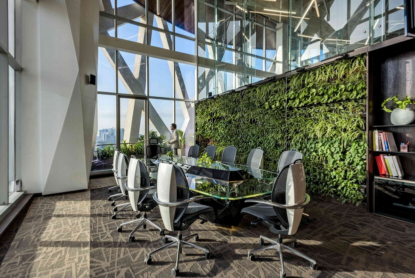 Fresh, green working environment