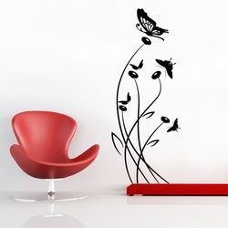 Buds and Butterflies Wall Decal ( KC312 )