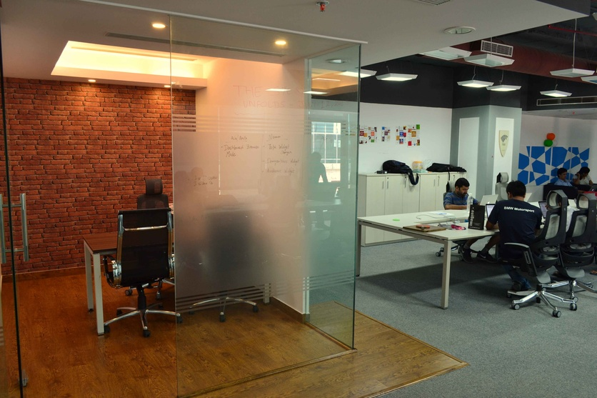 Sprinklr office fitout by neeraj madan architect in for Small professional office design