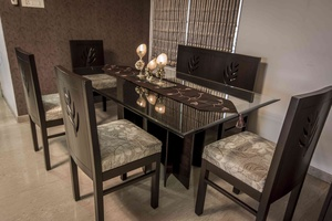 Leaf Shaped Dining Table and Chaires in same theme