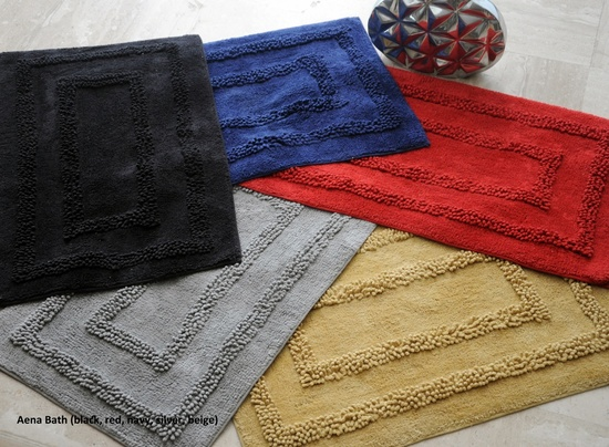 Aena Handmade Cotton Bathroom Mats