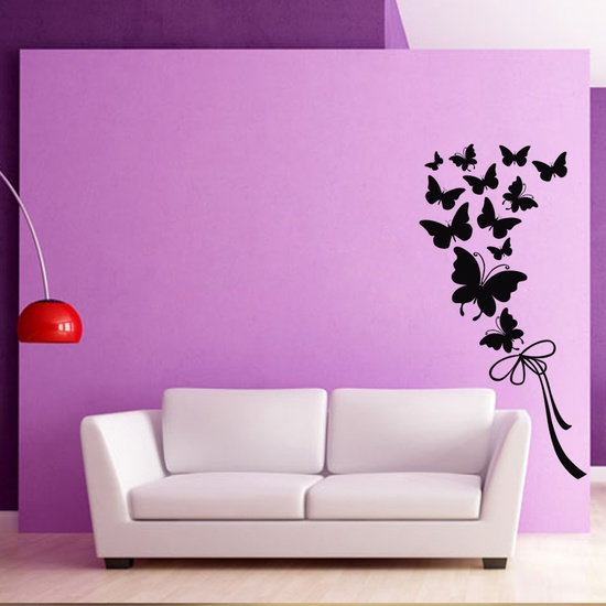 Butterflies And Ribbon Wall Decal ( KC304 )