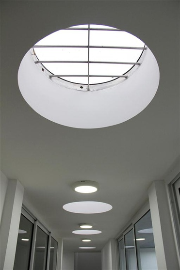 skylights in the upstair passage