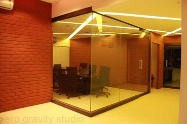Conference Room with Glass Doors