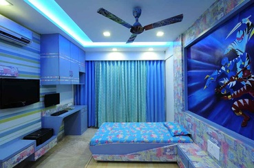Blue Themed Kids Bedroom