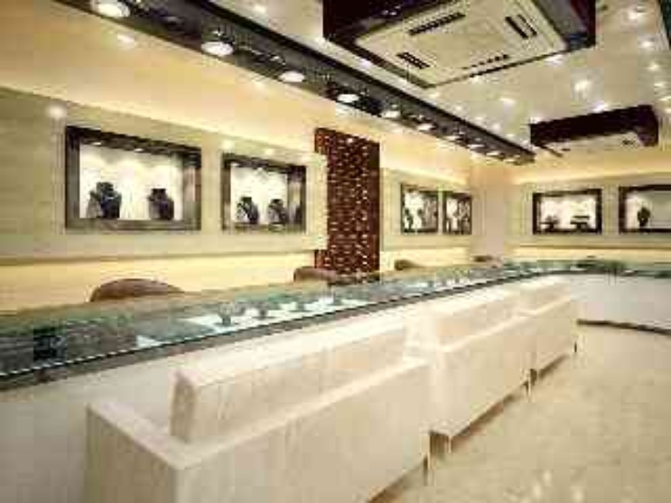 Interiors of a jewellery showroom by arnav khanna for Interior decoration market in delhi