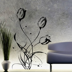 Pretty Tulips Wall Decal ( KC112 )