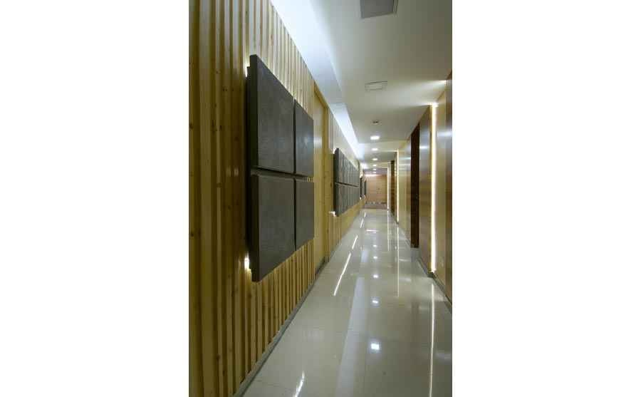 corridor with Wooden Walls