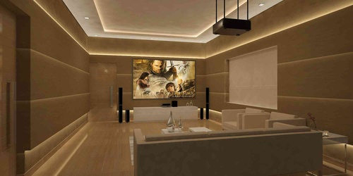 De Panache Interiors Home Theatre Design Ideas Designs India