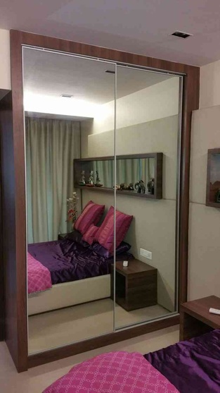 mirror on wardrobe