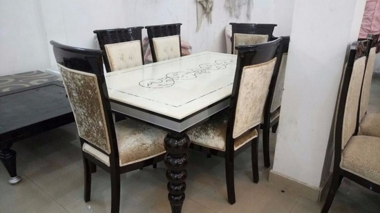 Dining Table with Marble top