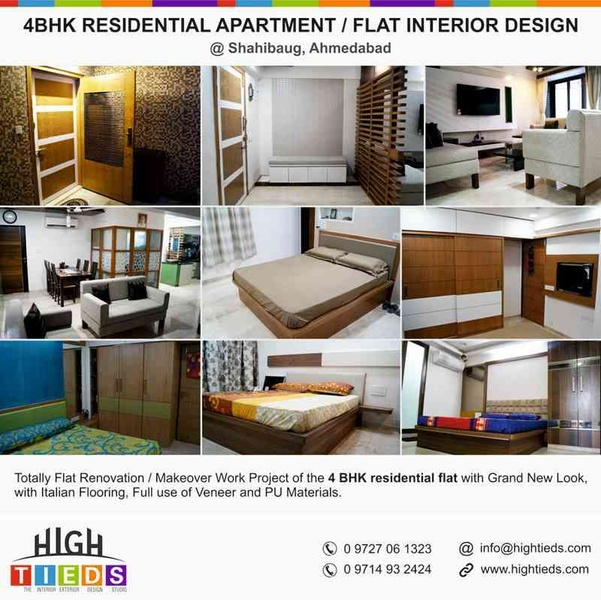 4bhk Residential Apartment Interior Design Projects Ahmedabad By High Tieds Interior Design Interior Designer In Ahmedabad Gujarat India