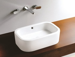 Sestones Loreto White Countertop Wash Basin