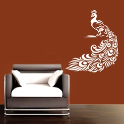 Pretty Peacock Wall Decal ( KC050 )
